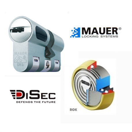 Escudo Protector Disec + Cilindro Mauer NW5